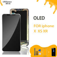 LCD OEM Per iPhone X XS XR OLED 3D Touch Digitizer Assembly No Dead Pixel Dello Schermo LCD di Ricambio Display Per iPhone X LCD AAA + + +