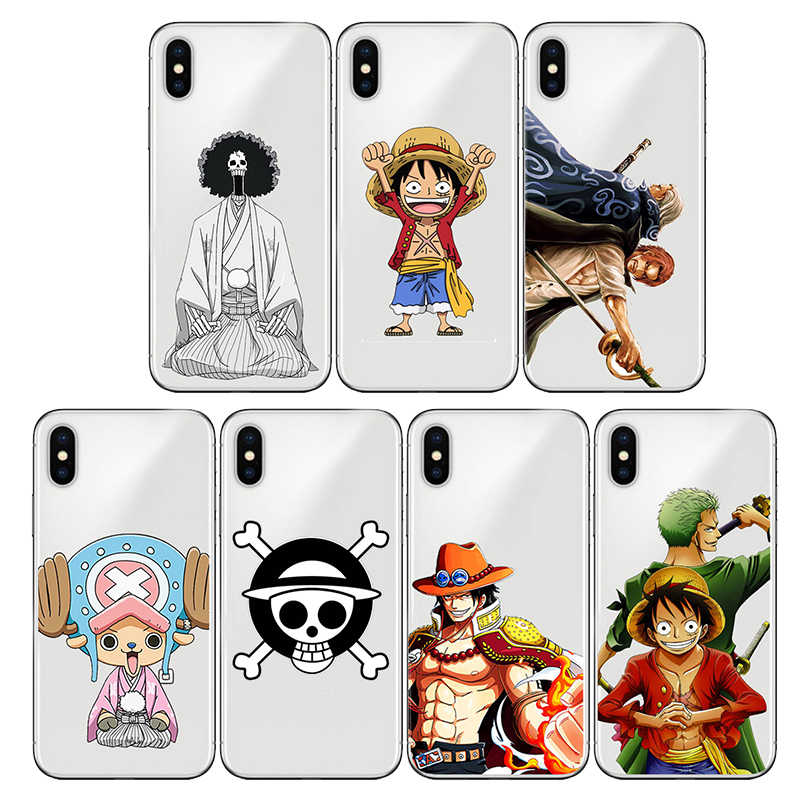 Silicone Soft  ONE PIECE Phone Case Japanese Anime for Apple iphone 7 8 plus XS MAX XR 6S X 5 6 5S SE 11 pro