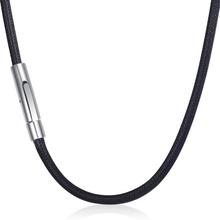 Brązowy czarny Man-made skórzane naszyjniki dla mężczyzn zapięcie magnetyczne ze stali nierdzewnej mężczyzna skórzany sznur naszyjniki na prezenty 3mm LDN22 tanie tanio Davieslee STAINLESS STEEL Mężczyźni Łańcuszki naszyjniki CN (pochodzenie) TRENDY Łańcuch liny Skóra Geometric All Compatible