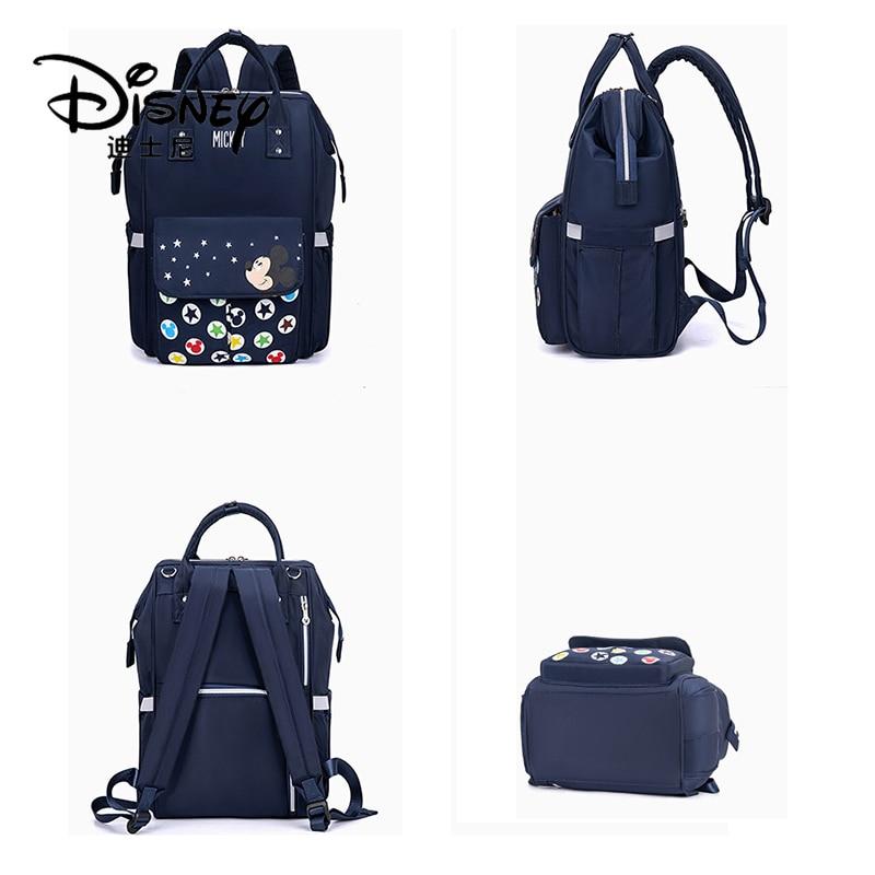 Disney Mummy Bag Multifunctional Waterproof Travel Backpack Large Capacity Item Storage Bottle Insulation Bag Baby Diaper Bag