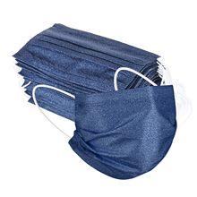 50pc 3 Camadas De Proteção Descartável Máscara Azul Escuro Denim Impressão Boca Caps Não Tecido Descartável Máscara Facial Masque Mondkapjes