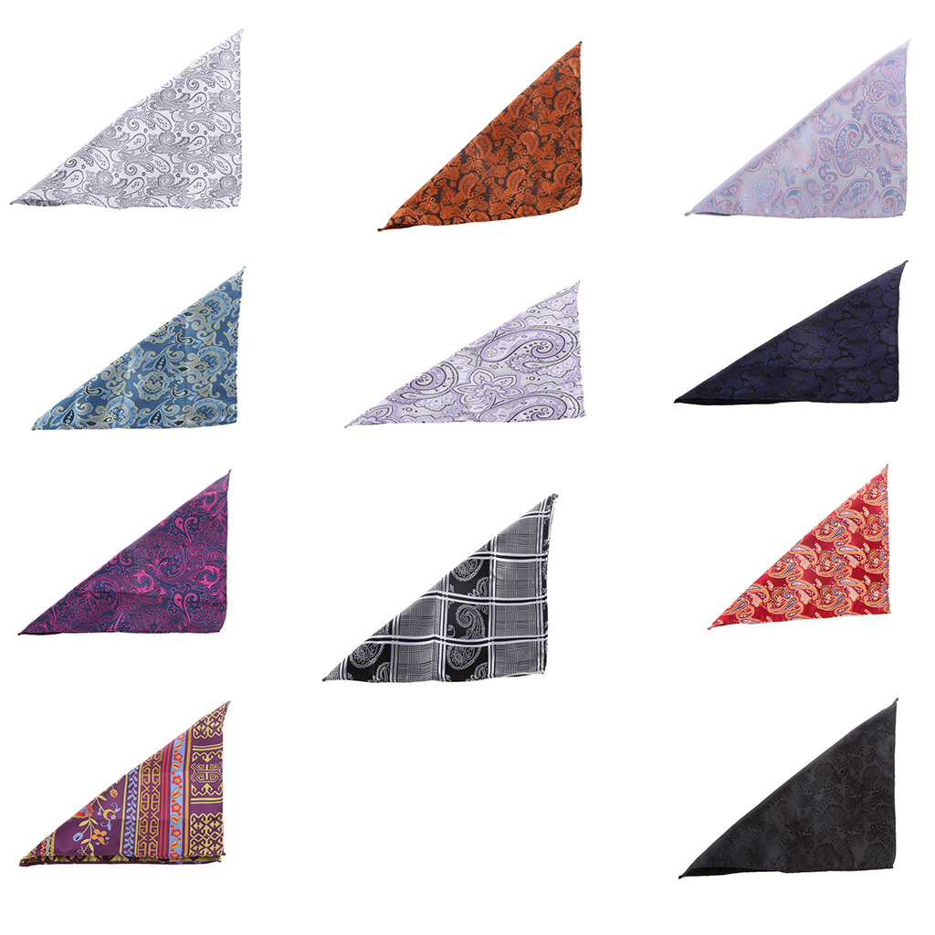 Mens Classic Vintage Style Pocket Square Wedding Formal Party Handkerchief