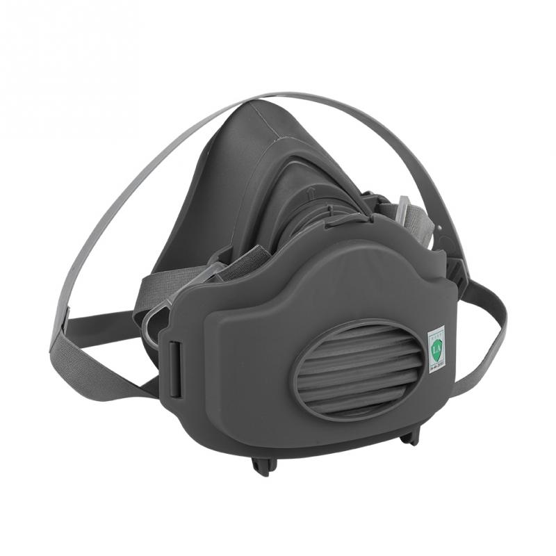 3200 Half Face Gas Mask Respiratory Dust-proof Light Weight Work With 3701 High Efficiency Filters Protective Industrial