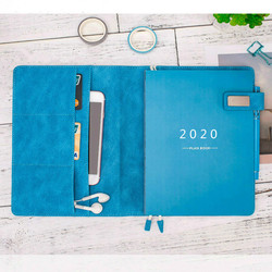 A5 Agenda rellenable 2020 planificador organizador diario semanal diario mensual cuaderno lindo Plan nota manual Bloc de notas