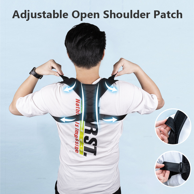 Medical Adjustable Clavicle Posture Corrector Men Woemen Upper Back Brace Shoulder Lumbar Support Belt Corset Posture Correction 2