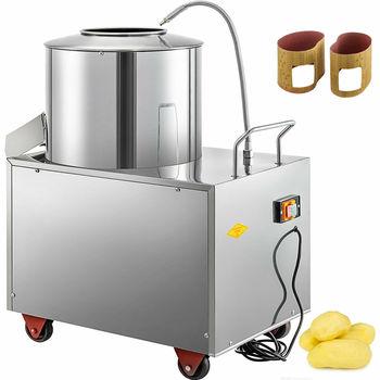 Obierak do ziemniaków elektryczny 1500W maszyna do obierania ziemniaków 15-20KG handlowa automatyczna maszyna do obierania ze stali nierdzewnej tanie i dobre opinie CN (pochodzenie) TDQPJ350X00000001V2 Części spryskiwaczy warzyw 220V 50Hz 70X55X85 cm 56 kg 15-20 kg Mal 20min Evil