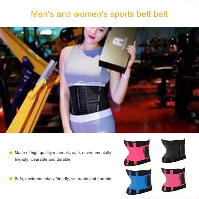 Men Women Sport Waist Belt Tummy Slimming Body Shaper Cincher Zipper Waist Cincher Corset Trainer Sweat Waist Cincher Belt 1