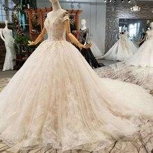 LSS076, Envío Gratis rápido, vestidos de novia con hombros descubiertos, vestidos de novia con flores, con tren largo, precio real