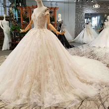 LSS076 fast free shipping wedding gowns off the shoulder sweetheart ball gown flowers wedding dresses with long train real price