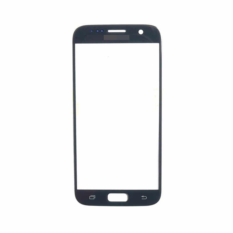 S7 شاشة تعمل باللمس لسامسونج غالاكسي S7 الجبهة لوحة اللمس شاشة الكريستال السائل الخارجي غطاء لعدسات النظارة إصلاح الهاتف استبدال جزء