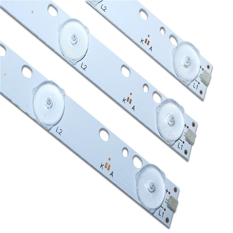 6pcs 32'' 570mm*17mm 10leds LED Backlight Lamps LED Strips W/ Optical Lens Fliter For TV Monitor Panel 30V New
