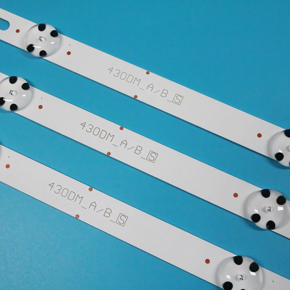 New Kit 3 PCS 7LEDs 830mm LED backlight strip for LGTV 43UJ634V 43LJ61 FHD L LC43490059A LC43490058A Innotek 17Y 43inch A-Type