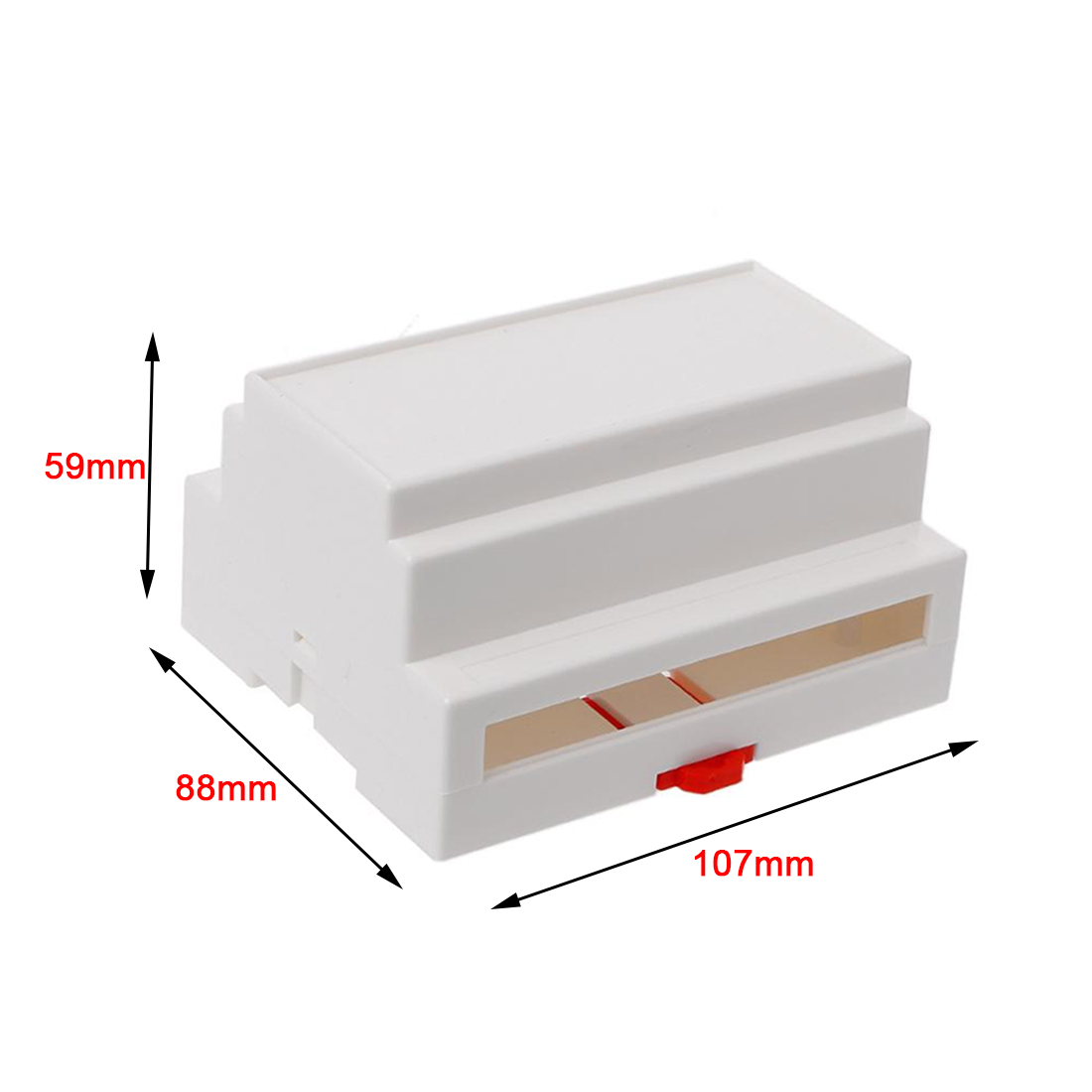 Caja vertical carril DIN en ABS de 107 mm