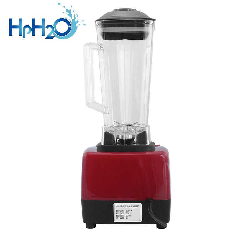 Comercial 2l 2200w grau pesado misturador liquidificador juicer processador de alimentos alta potência ice smoothie bar frutas liquidificador triturador de gelo
