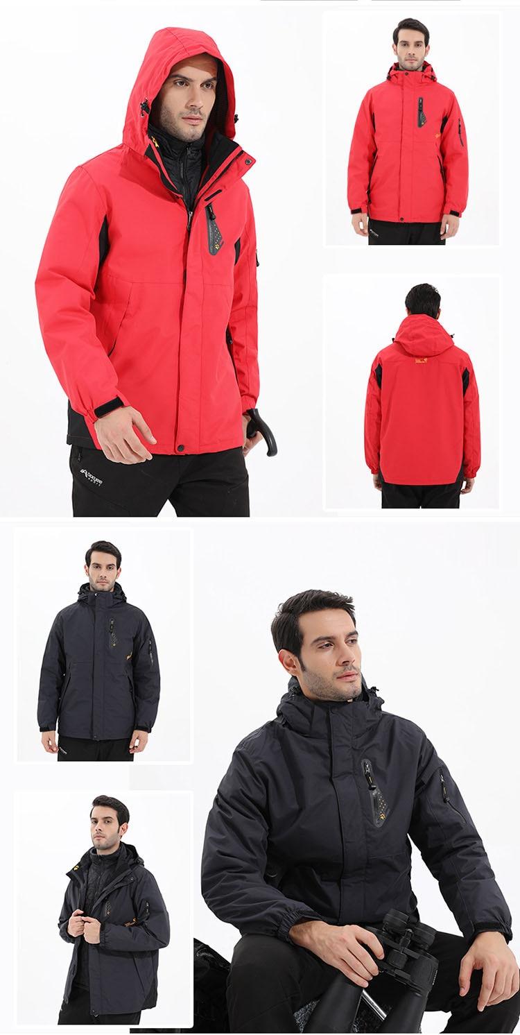 dwaterproof água térmica 2 em 1 jaquetas