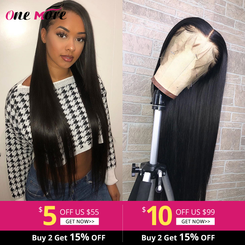 One More Glueless Full Lace Wigs Straight Human Hair Wigs Remy Brazilian Wig Transparent Pre Plucked Full Lace Human Hair Wigs
