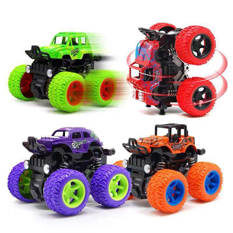 Big Wheel Monster Truck 360 Degree Flipping Car Inertia Friction Power SUV Diecast Outdoor Toys For Children Boys Birthday Gift