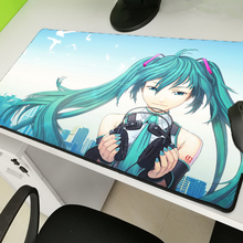 Yuzuoan Sexy Anime Hatsune Future Padmouse Game Player Mousepad Natural Rubber  Lockedge Mouse Pad Keyboard Large Size