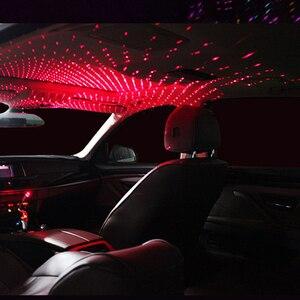 Image 5 - Umgebungs Licht Auto USB Universal Mini LED Auto Dach Sterne Nacht Projektor Licht Lampe Dekoration Dekorative Atmosphäre Lichter