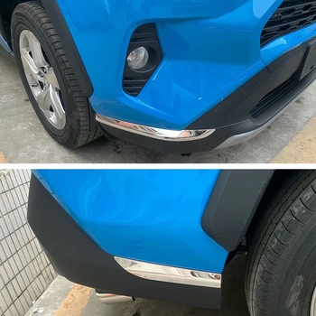 4 PCS Car Sticker Bumper Scratch Protection Car Front/Rear Edge Corner Guard Decoration Strip For Toyota RAV4 2019 2020
