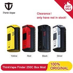 In Voorraad! Denken Vape Finder 250C 300W Box Mod Thinkvape Aangedreven Door Triple 18650 Batterij Met Evolv Dna Chipest Vape Mod E Sigaret