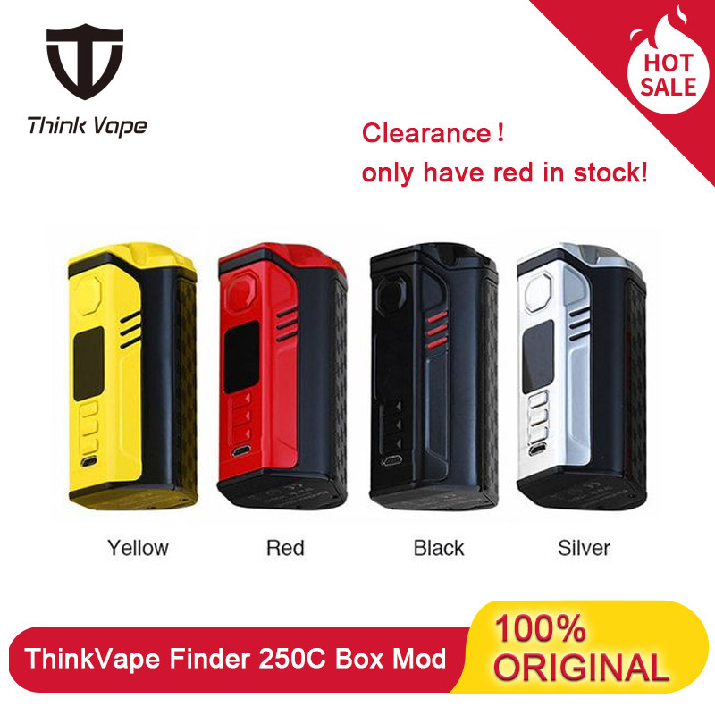 In Stock! Think Vape Finder 250C 300W Box Mod ThinkVape Powered By Triple 18650 Battery With Evolv DNA Chipest Vape Mod E Cig