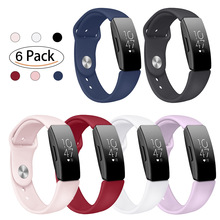 Soft Silicone Band For Fitbit Inspire HR Sports Solid Color Bracelet Reverse Deduction Strap Smart Watch Replacement Accessories
