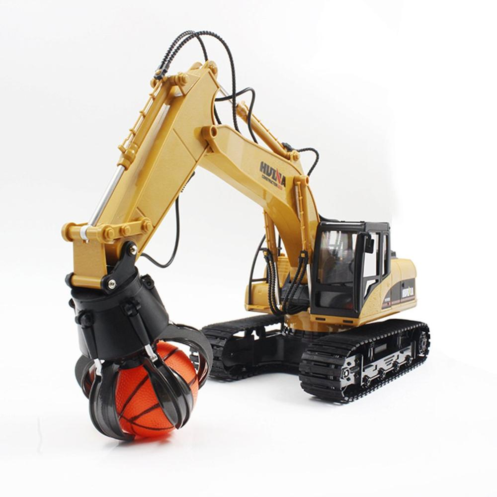 2019 HUINA Toys 1571 1/14 16CH Alloy RC Ball Grabber Truck Engineering Construction Car Vehicle With Sound Light Rotate 680 Degr