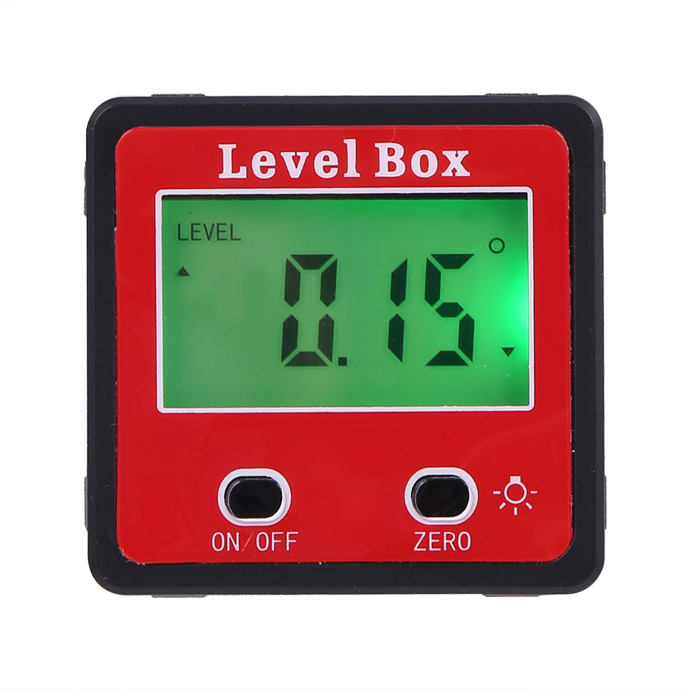 360 Precision Degree Mini Digital Protractor Inclinometer Electronic Level Box Magnetic Base Measuring Tools With Magnet Base