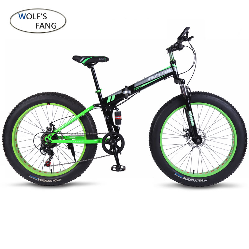 wolf's fang Bicycle Mountain bike Road Bike 21/24 speed 26  4.0 brand Fat bikes Spring Fork Aluminum wheels new arrival Unisex image