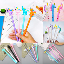 1pc Cute Unicorn Gel Pens 0.5mm Kawaii Novelty Neutral For Writing School Office Supplies Creative Stationery