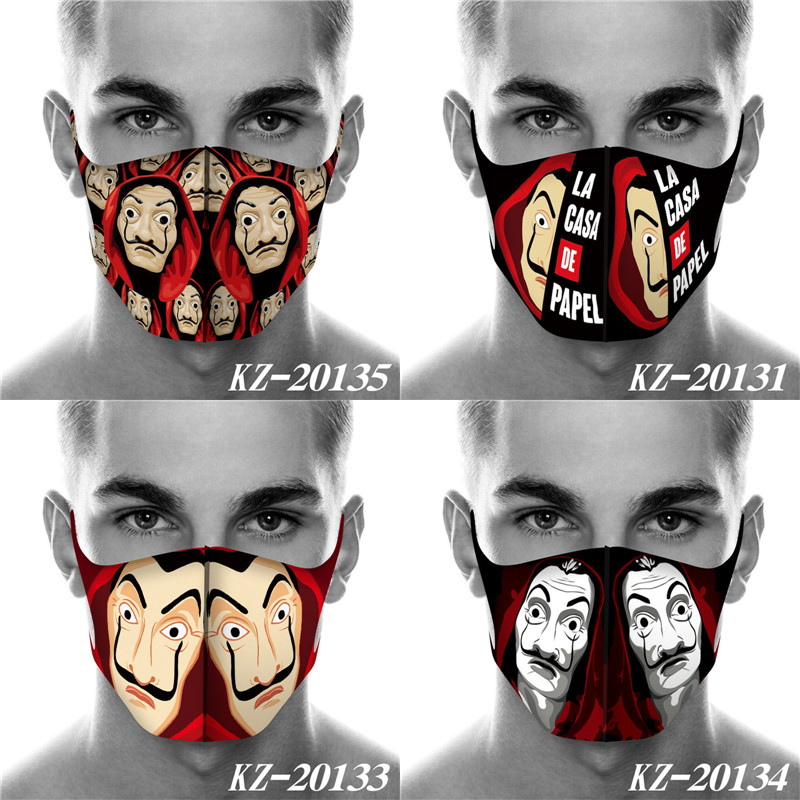 Cosplay Mask La Casa De Papel Mask Season Money Heist Mouth Mask Breathable Face Mask Face Mouth Cover Mascarillas Dropshipping