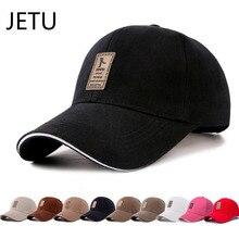 JETU 1 Piece Women Baseball Cap Men Adjustable Canvas Casual Leisure Hats Solid Color Fashion Snapback Summer Fall Hat