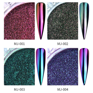 Image 5 - 0.5g Nail Mirror Glitter Powder Metallic Color Nail Art UV Gel Polishing Chrome Flakes Pigment Dust Decorations Manicure