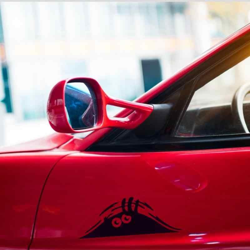 1 Buah Hitam 3D Keren Mata Besar Auto Mobil Stiker Vinil Stiker Dekorasi Stiker Tahan Air Busana Lucu Mobil Styling Aksesoris TSLM1