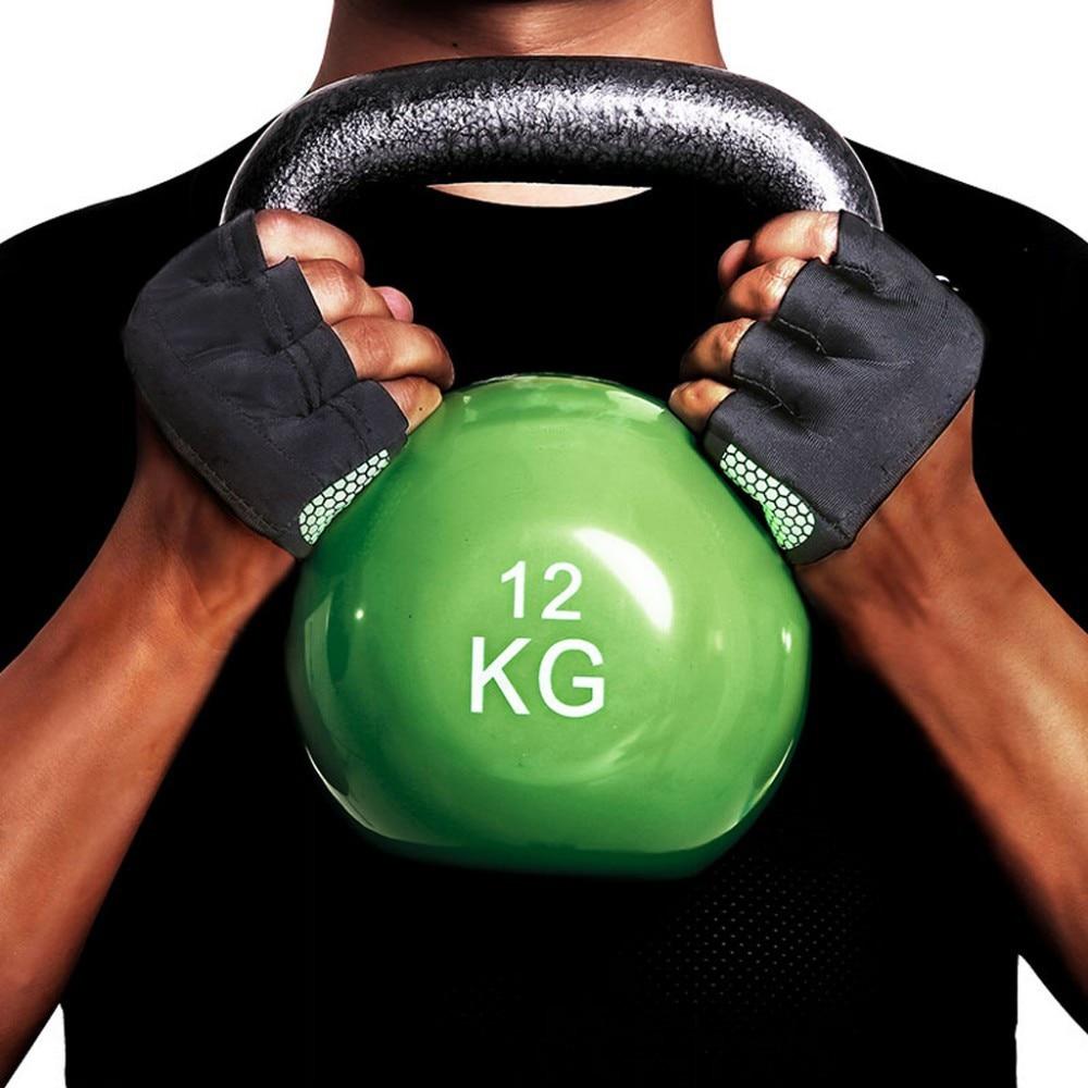 Gants de Fitness demi-doigt pour hommes et femmes, pour Crossfit, musculation, musculation