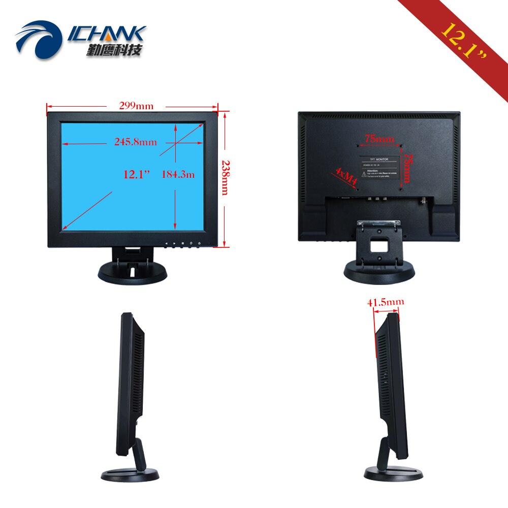 B120JC ABHUV 2/12 1024x768 4:3 tela padrão usb vga hdmi monitor de toque do pc/12.1 ordenando tela de toque resistive da máquina da posição - 6