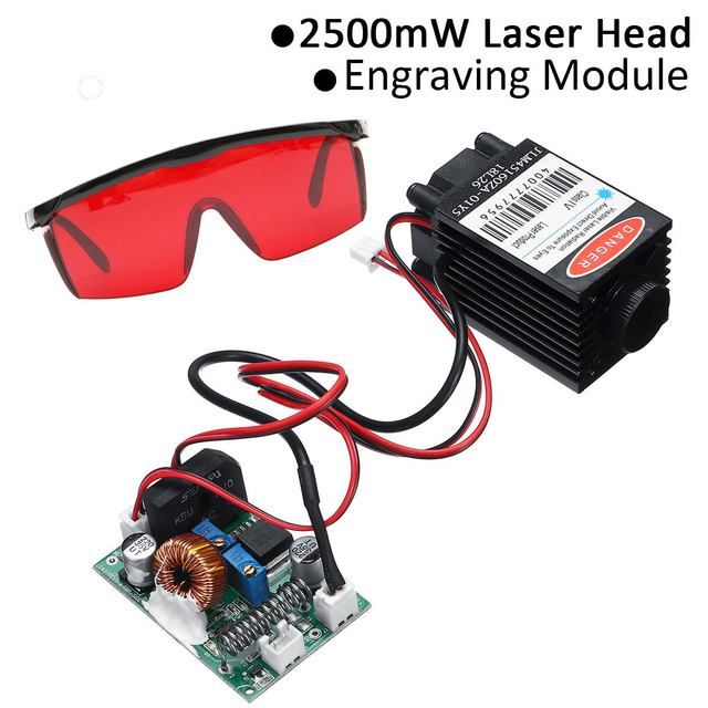 2.5W 450nm Laser Head Module DIY Focusable High Power Blue TTL Cutting Carving CNC Goggles Engraving Machine Woodworking Parts