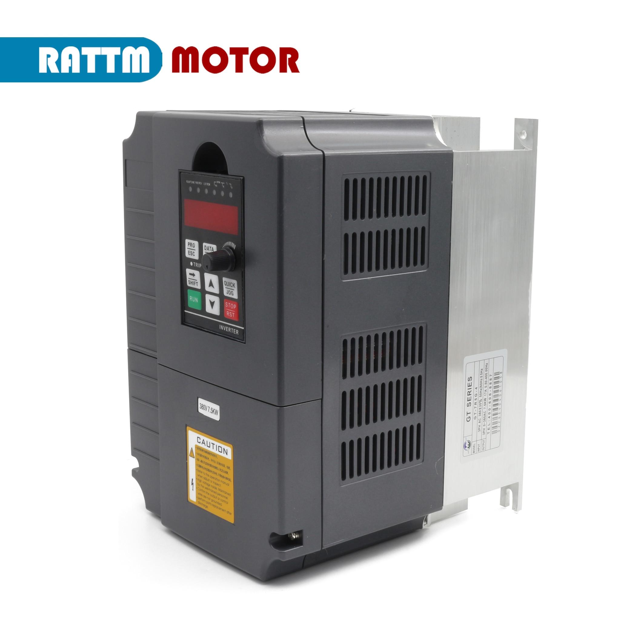 EU Lieferung! 7,5 kw 380V, 220V Spindel wechselrichter Vector Control Frequenz Konverter 3 phase