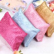 Vogvigo Portable  Multifunction Beauty Zipper Travel Cosmetic Bag Letter Makeup Bags PouchToiletry Organizer Holder Beautician