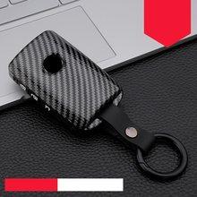 Fibra de carbono + silicone caso capa chave do carro para mazda 3 alexa CX-30 cx30 cx5 cx 5 CX-5 cx8 cx9 cx4 2019 2020 acessórios automóveis