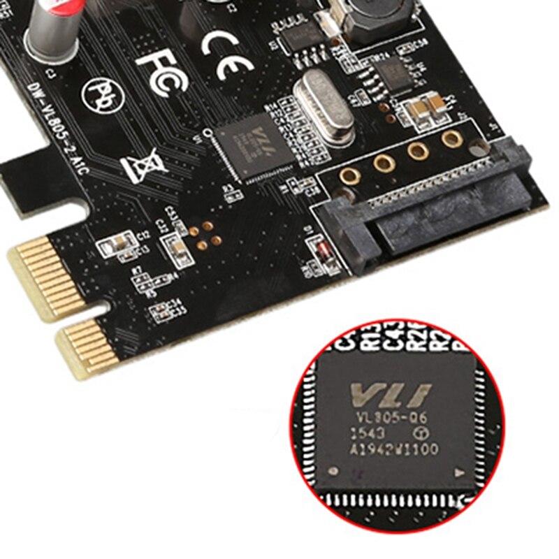 Usb3.0 pci express placa de expansão tipo-c