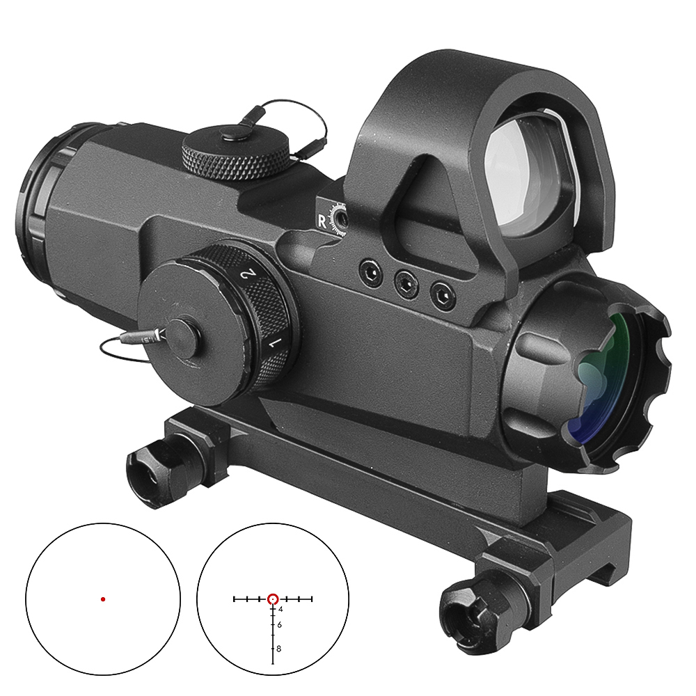 4x24 Scopes Tactical HAMR Rifle Scope Lens Red Dot PP1-0403 Mark 4 High Accuracy Multi-Range Riflescope Hunting