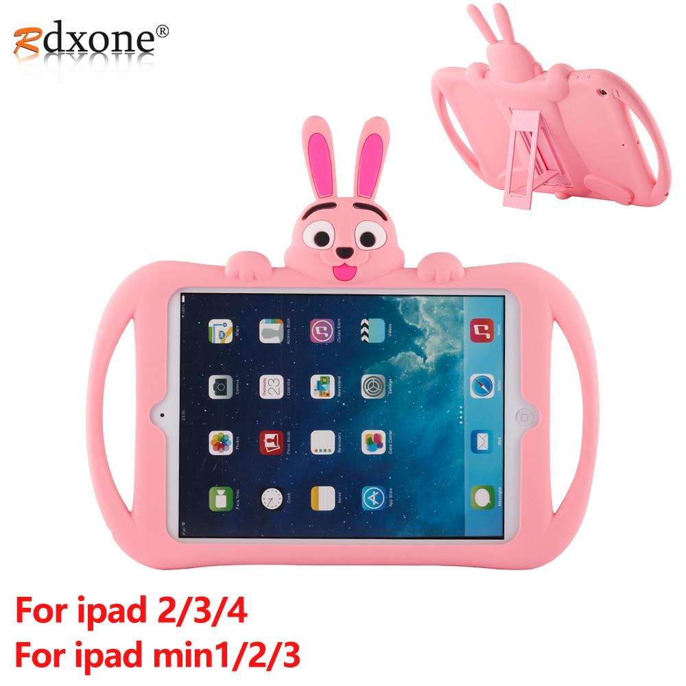Per IPad 2 3 4 Caso di Bambini Tablet Antiurto di Caso per Apple IPad mini 1 2 3 Copertura di Caso Carino caso del fumetto del Silicone Borsette