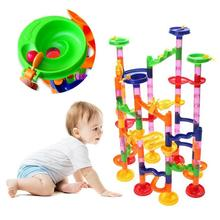 105pcs Set DIY Construction Marble Race Track Building Blocks Children Labyrinth Roller Ball Toys christmas gift