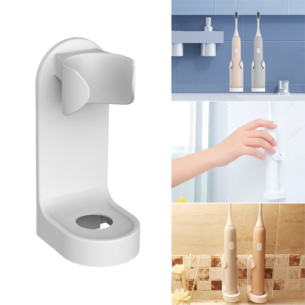 Creative Traceless Stand Rack Toothbrush Organizer Electric Toothbrush Wall-Mounted Holder Space Saving Bathroom Accessories image