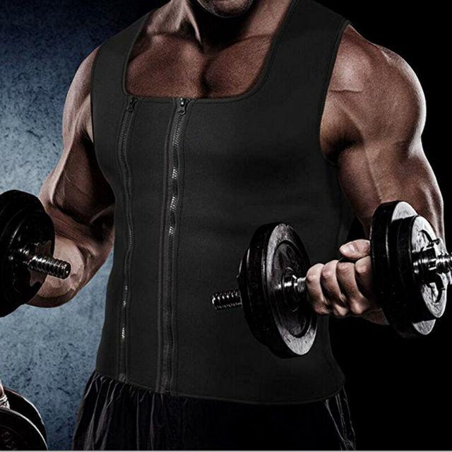 Men Slim Shaper Neoprene Belt Sport Vest Sweating For Fat Burning Waist Trainer Men's Corset Vest 1