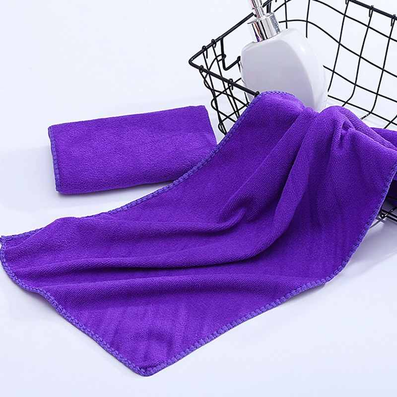 DIDIHOU 30x70 سنتيمتر صغيرة البوليستر ماص اليد منشفة منشفة من الألياف الدقيقة التجفيف السريع منشفة استحمام الحمام مناشف المطبخ لوازم