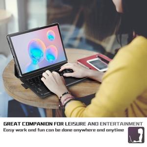 Image 5 - Pour Samsung Galaxy Tab S6 10.5 2019 étui avec clavier Touchpad tablette détachable Bluetooth étui pour Galaxy Tab S6 10.5