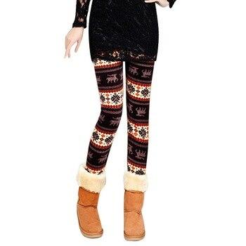 2020 New Women's Autumn Leggings Girl Winter Legging Bottoms Snowflake Christmas Deer Print Leggings Women Clothing Jeggings 4